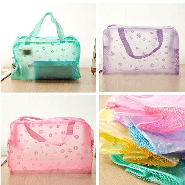 Travel Portable Makeup Bag Toiletry Bathing Transparent Pouch Case Waterproof
