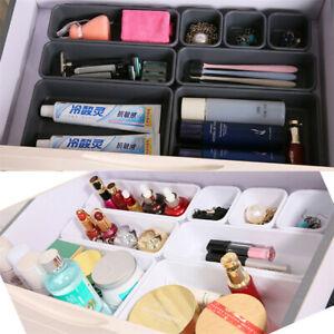 8x-Comfortable-Desk-Drawer-Organizer-Home-Kitchen-Tidy-Divider-Makeup-Storage