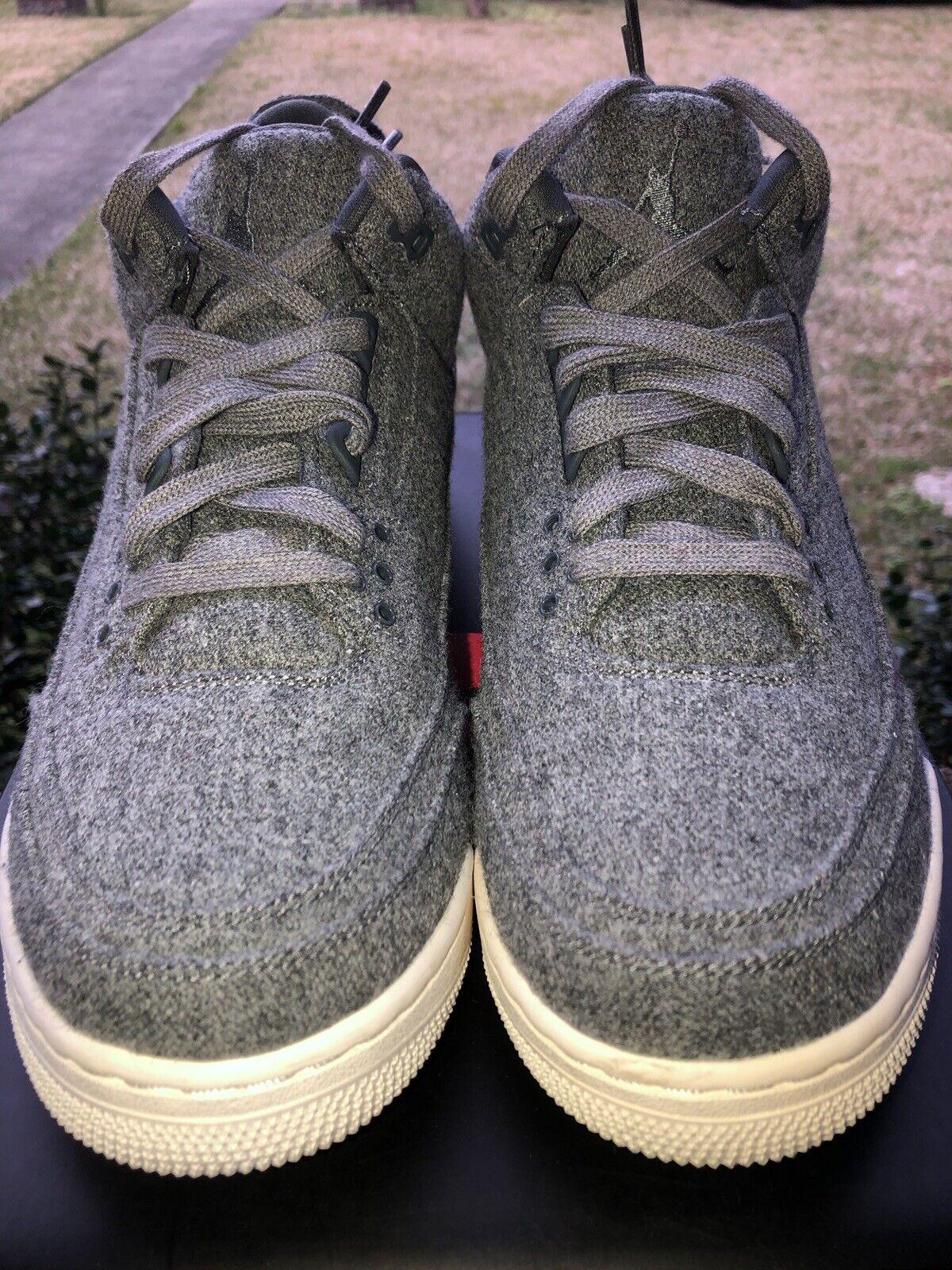 Nike Air Jordan Retro 3  Wool   Sz. 12 Grey 854263 004 VNDS 100% Seller Clean