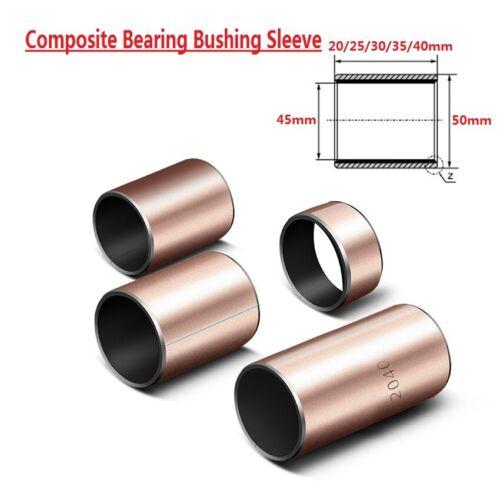 SF-1 Self Lubricating Composite Bearing Bushing Sleeve 45x50x20//25//30//35//40mm