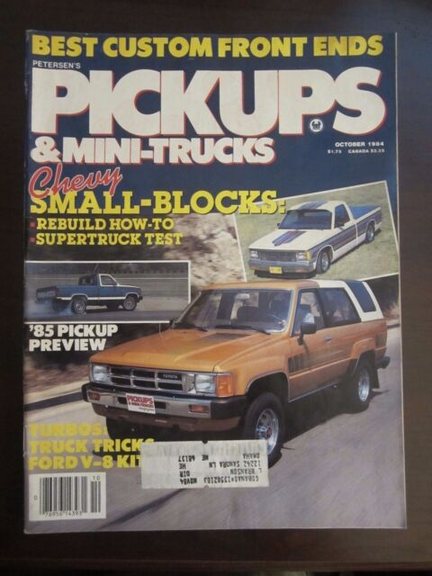 Pickups & Mini Trucks Magazine December 1984 Shelby Supercharged Rampage as  Y7