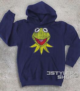 Bebe-En-Peluche-KERMIT-la-grenouille-frog-ANTIQUE-Muppet-Show-ami-Mlle-Piggy
