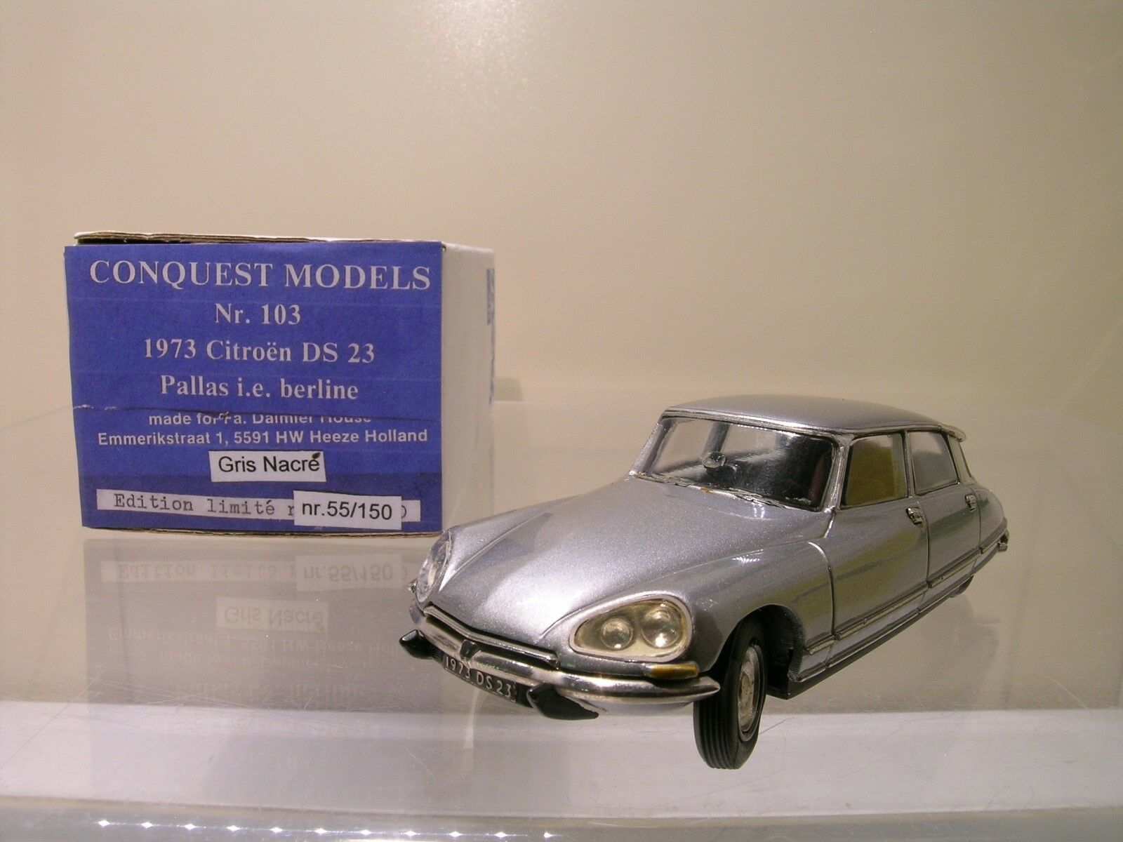 CONQUEST MODELS No.103 CITROËN DS23 PALLAS I.E. BERLINE1973 GREY MET. HANDB.1 43