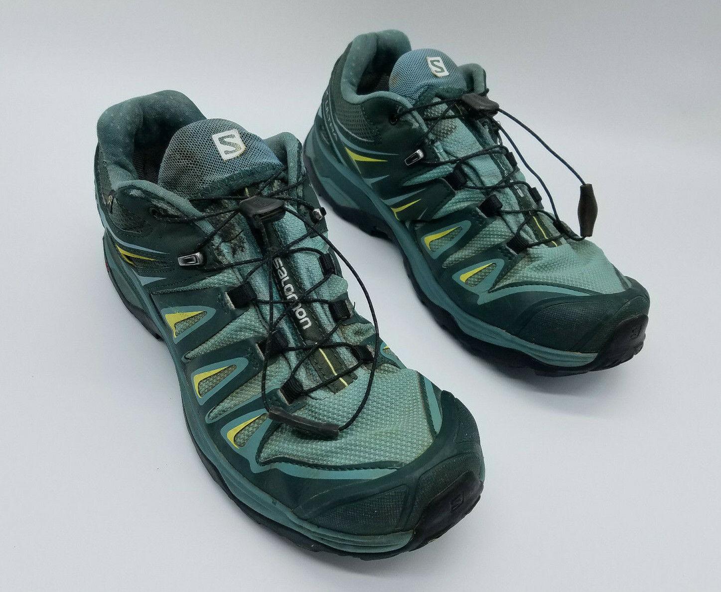 Salomon X Ultra 3 GTX Femme Trail Chaussures De Randonnée Arctic Spruce 400065 Taille 10