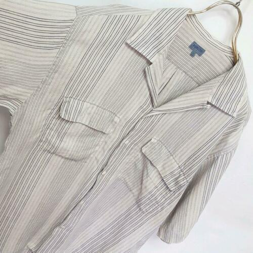 90S Old Kenzo Big Size Stripe Open Collar Shirt Fr