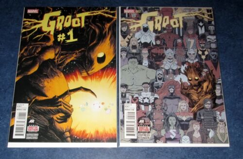 GROOT #1 2 1st print set MARVEL COMIC 2015 NM NEW guardians of the galaxy NEW NM