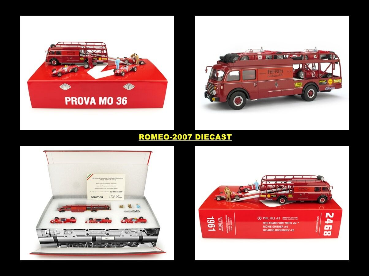 1 43 Brumm RTS02 Ferrari 156 Italian GP 1961 Race Transporter 3 Car Set RARE