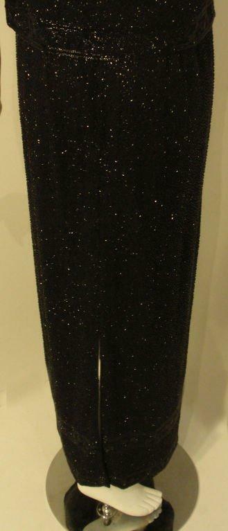 CEIL CHAPMAN 1960s Vintage 2 pc Black Beaded Gown - image 9