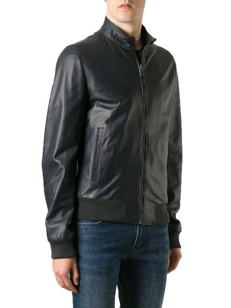 DE Herren Lederjacke Biker férfi bőr kabát kabát Homme Veste En cuir R15c