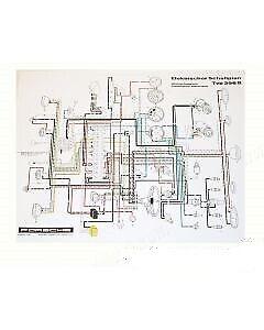 PORSCHE 356B T5 WIRING DIAGRAM 356 BT5 NLA.612.001.00 | eBay