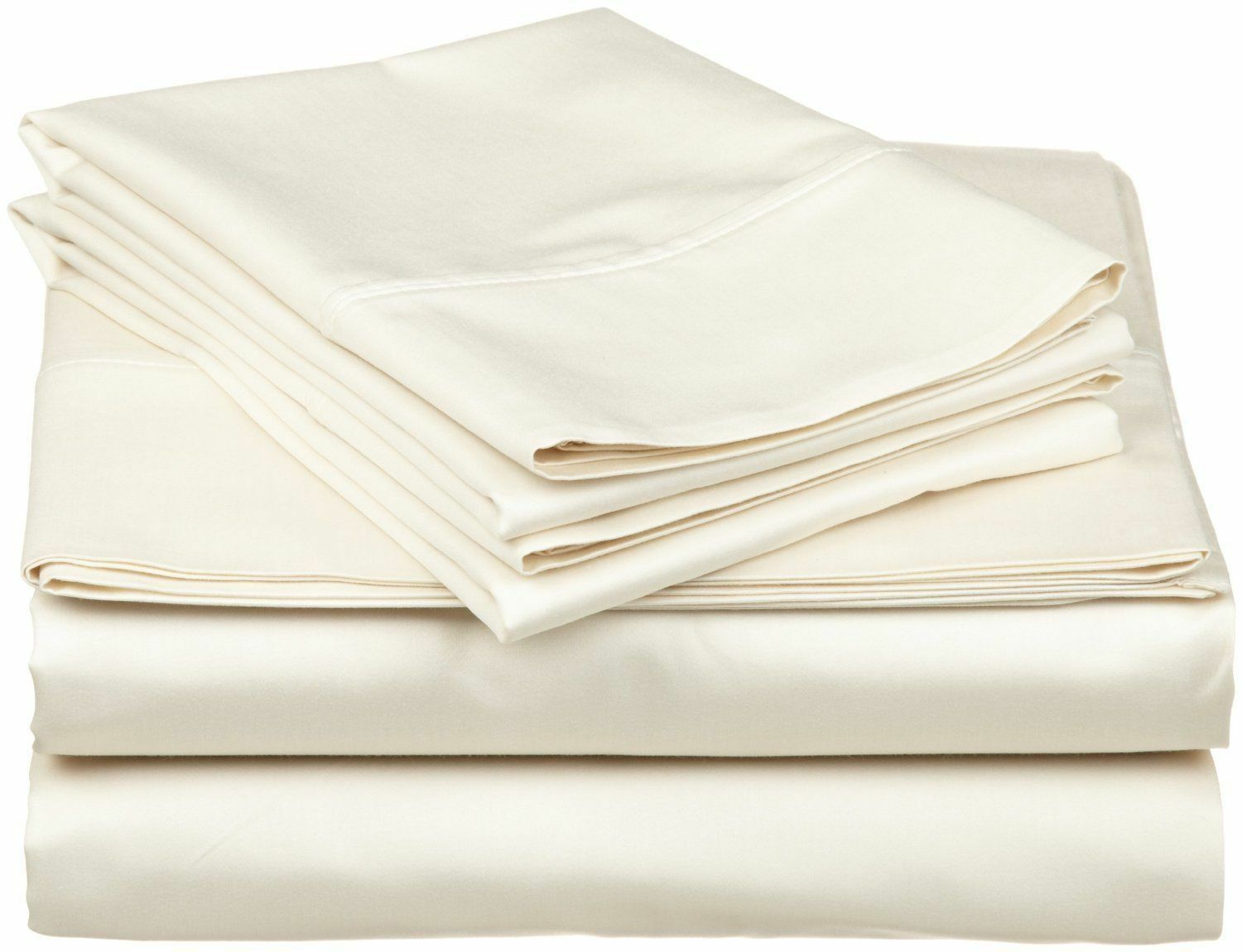 Bedding Items Egyptian Cotton 1000 Thread Count All Größes Ivory Solid