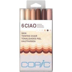 Copic Ciao 6pc Skin Set Kit - Skin Colors 6 piece skin tone marker set