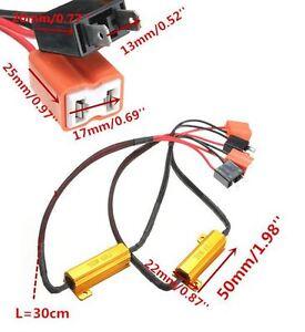 2x-H7-Widerstaende-Widerstand-LED-SMD-NO-ERROR-CANBUS-50W-Watt-6R-Ohm-2-Stueck