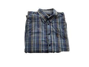 Ben Sherman Mens Big And Tall Checked Long Sleeves Button Up Shirt Size XL
