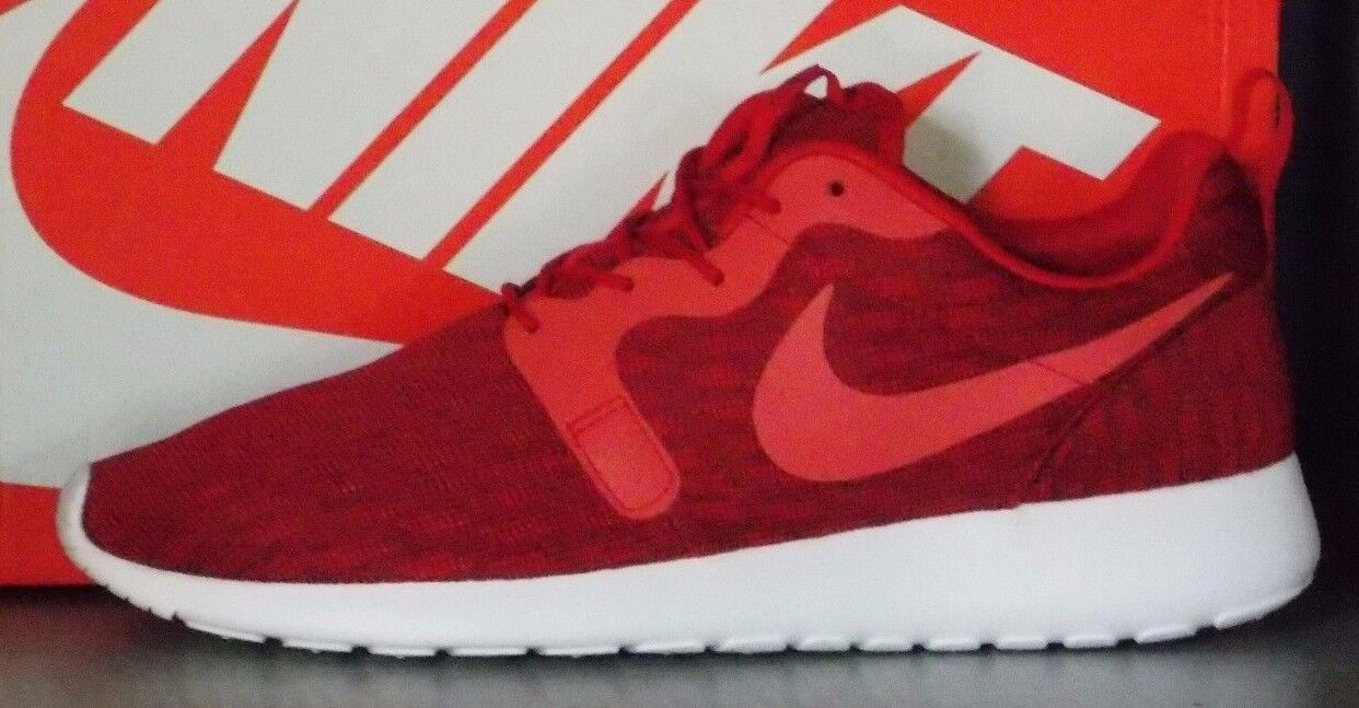 MENS NIKE ROSHE ONE KJCRD in colors RED / RED / RED / BLACK SIZE 11 The latest discount shoes for men and women