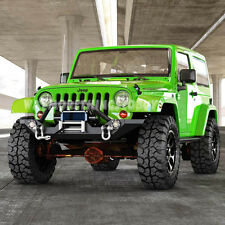 Rock Crawler Front Bumper w/LED Lights/Winch Plate for 87-06 Jeep Wrangler TJ YJ