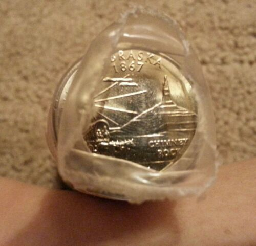 2006 D Nebraska State Quarter roll uncirculated in bank plastic shrink wrap