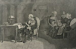 Louis XVI Roi de France et sa famille au temple gravure vers 1840 | eBay