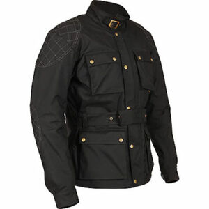Weise-Clifton-Black-Motorcycle-Motorbike-Armoured-Waterproof-Jacket-Uk-46-CHEST