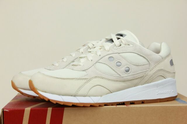 wholesale dealer e78d1 7a824 SAUCONY SHADOW 6000 TAN EGGNOG EGG NOG WHITE BLACK MENS RETRO SNEAKERS  S70428-2