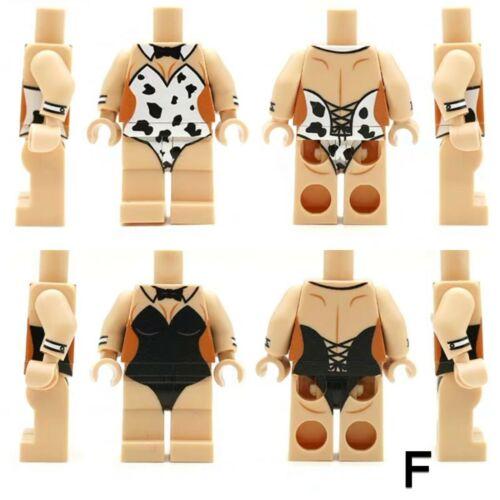 ⎡LEYILE BRICK⎦  Custom Lingerie Lego Minifigures Torso and Leg
