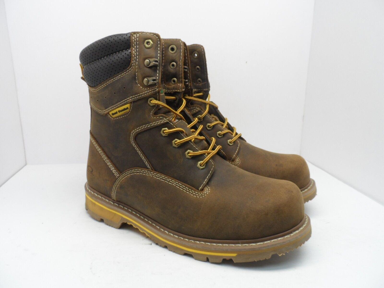 DAKOTA Men's 8'' 517 Quad Comfort Steel Toe Composite Plate Work Boot Brown 13W