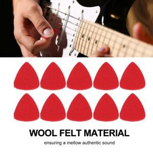 10pcs-Red-Wool-Felt-Guitar-Picks-Plectrum-for-Guitar-Bass-Ukulele-Banjo-Mandolin