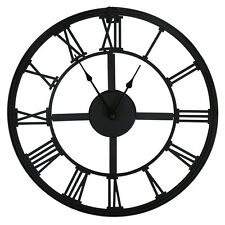 Bentley Garden Rustic Clock - Black Battery Operated Roman Numerals