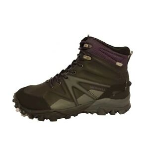 753c166f742 Details about MERRELL CAPRA GLACIAL ICE MID WATERPROOF BLACK WALKING SNOW  BOOTS LADIES WOMENS