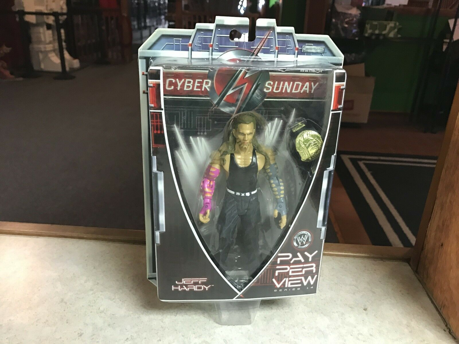 2007 Jakks Pacific Wrestling WWE Cyber Sunday Pay Per View JEFF HARDY Figure MOC