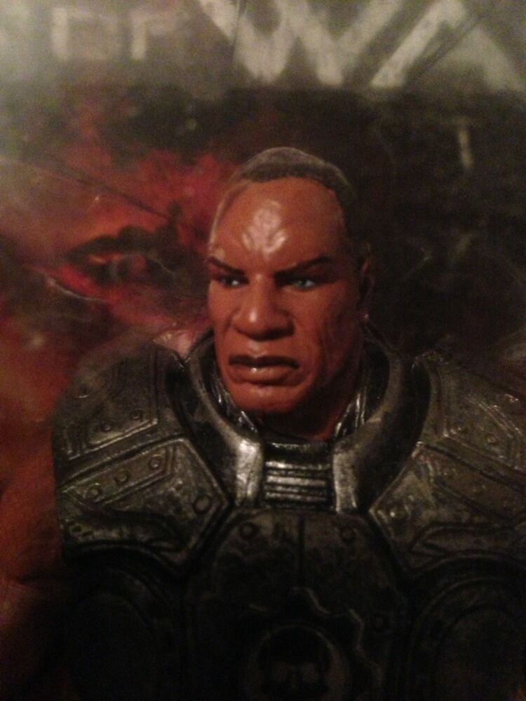 GEARS OF WAR  AUGUSTUS COLE series 1  WITH WITH WITH LANCER RARE    7 Inches Tall 27d916