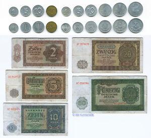 Das-erste-DDR-Geld-1-Pfennig-bis-50-Mark-1948-1958