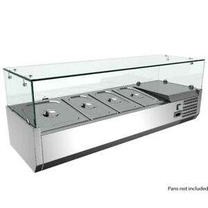 Omcan-40535-Refrigerated-Topping-Rail-with-4-Pan-Capacity