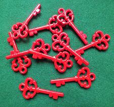 25 x Red Santa Keys Magic Keys Christmas Plastic with Love Key DIY Xmas Crafts
