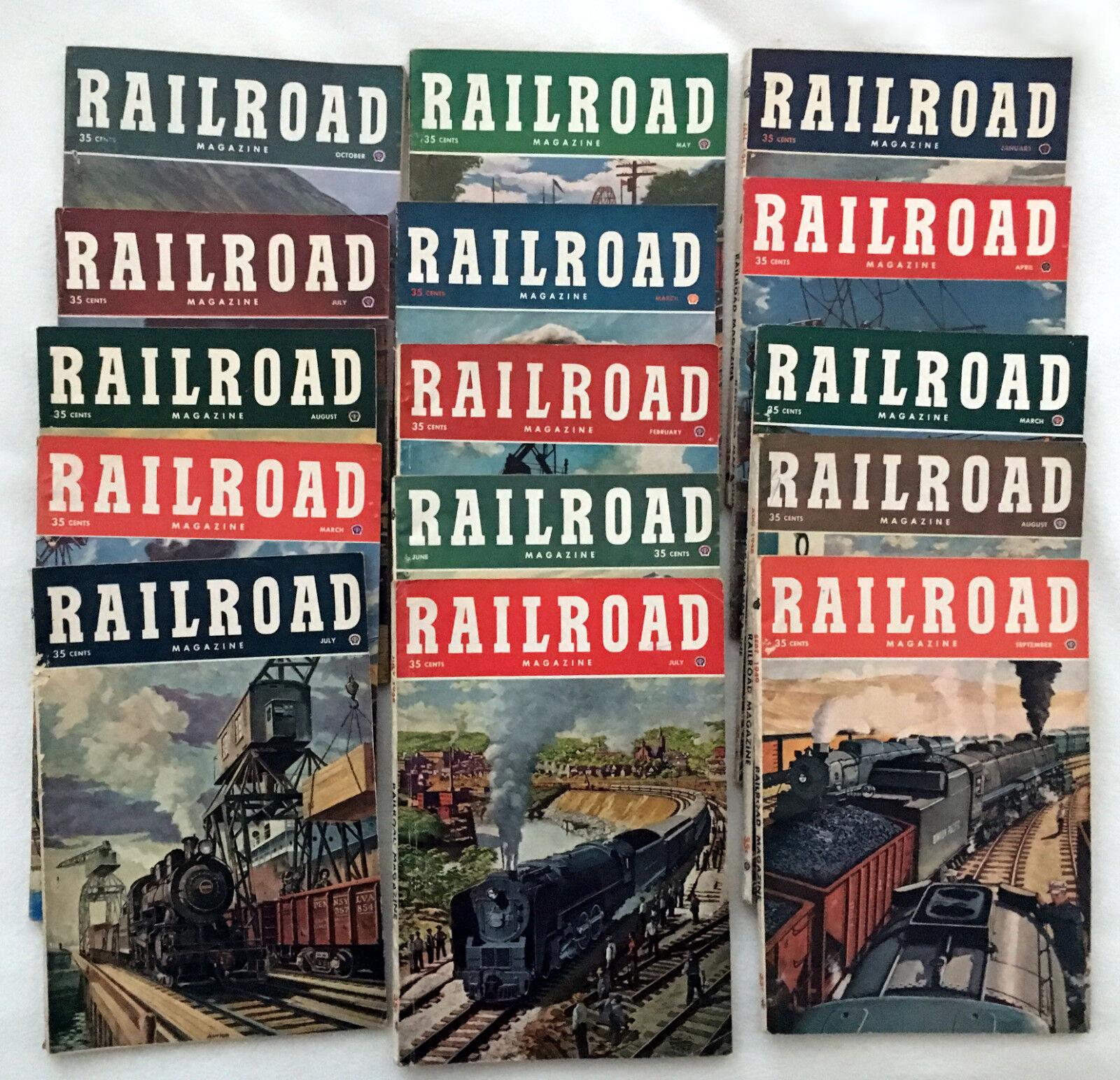 Railroad Magazines - 15 Issues 1948-1952