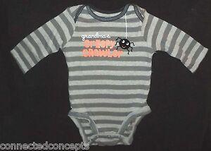 Carters Body Suit Infant 9M Halloween Grandma NWT One Piece Orange Cotton Snaps