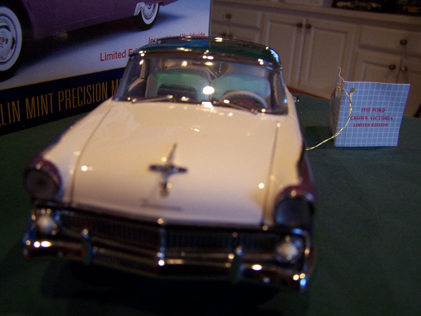 FRANKLIN MINT 1955 PURPLE FORD CROWN VICTORIAN NO BOX BOX BOX & PAPERWORK  W WHEEL KIT e006fc