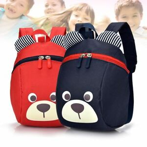 ac81e932ef Girls Boys Backpack Cartoon Bear Shape Children Kids Rucksack Travel ...