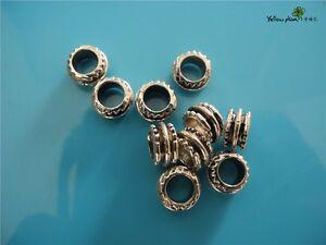 10 PCs Tibetan Carved Silver Metal Beads Set - Dreadlock Beads dread beads A12