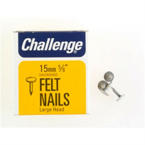 Galvanised Challenge Felt Extra Large 15mm Head Clout Nails box Pack