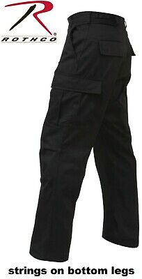 Rothco 5923 Men/'s Black Rip-Stop BDU Pants All Lengths