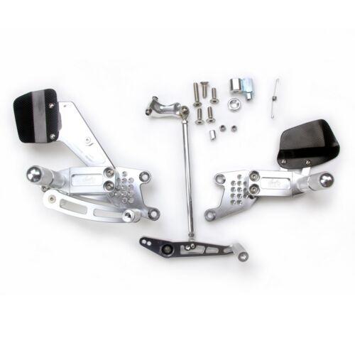 Adjustable Billet Rearsets Silver Honda CBR 1000 RR 08-17 2008-2017 FR72