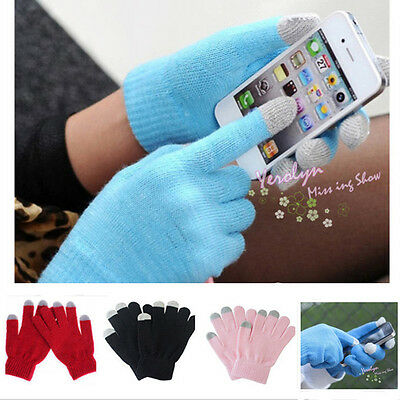 Unisex Touch Screen Soft Winter Warmer Gloves for Smartphone iPhone X10 Samsung