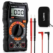 Km Counts Digital Clamp Meter Multimeter With Trms For Acampdc Current Volt Test