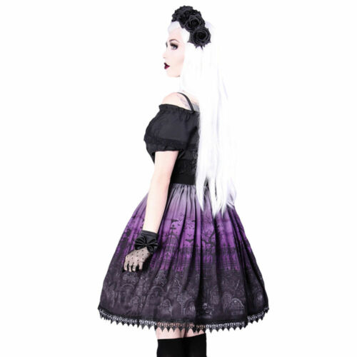 Lolita Cimitero Xxl Restyle Skirt Gothic S Taglie Purple 4wHqCw