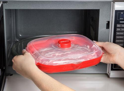 Sistema Mikrowelle Bacon Knuspriger Gesund Kochen Praktisch Küchen Gerät