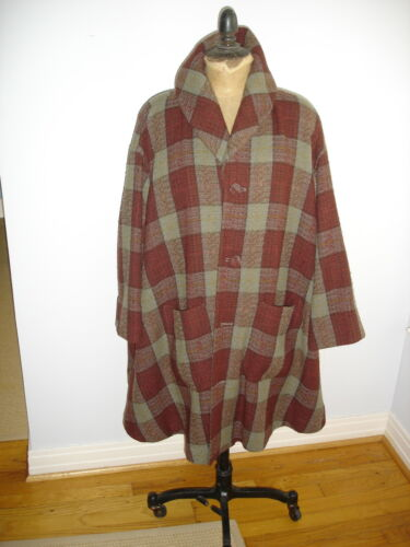 Matsuda multi color 93% wool 7% nylon plaid  swing