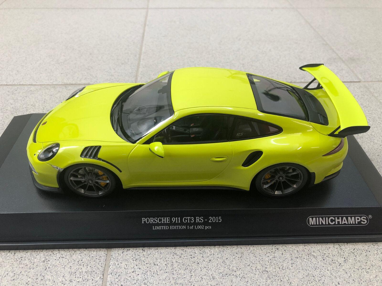 Porsche 911 991 GT3 RS lichtgr 65533; (65533; n gr 65533; (n gr)  65533; n 2015 limitert Minichamps modellllerlerlbil 1 18