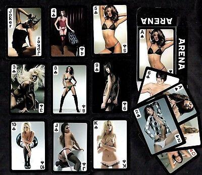 Acquista A Buon Mercato Arena Magazine Modelli Set Sigillato Poker Carte Da Gioco Pin-ups Calze Sexy Gioco-mostra Il Titolo Originale