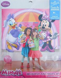 Party Backdrop And Props Kit Disney Minnie Mouse Birthday Poster